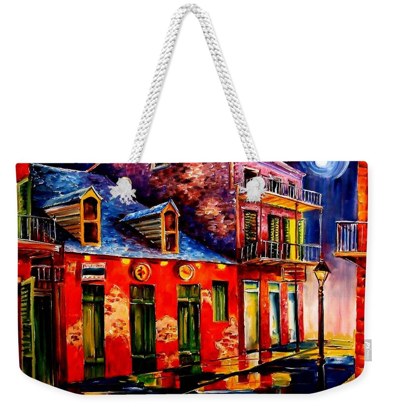 New Orleans Weekender Tote Bag featuring the painting French Quarter Dazzle by Diane Millsap