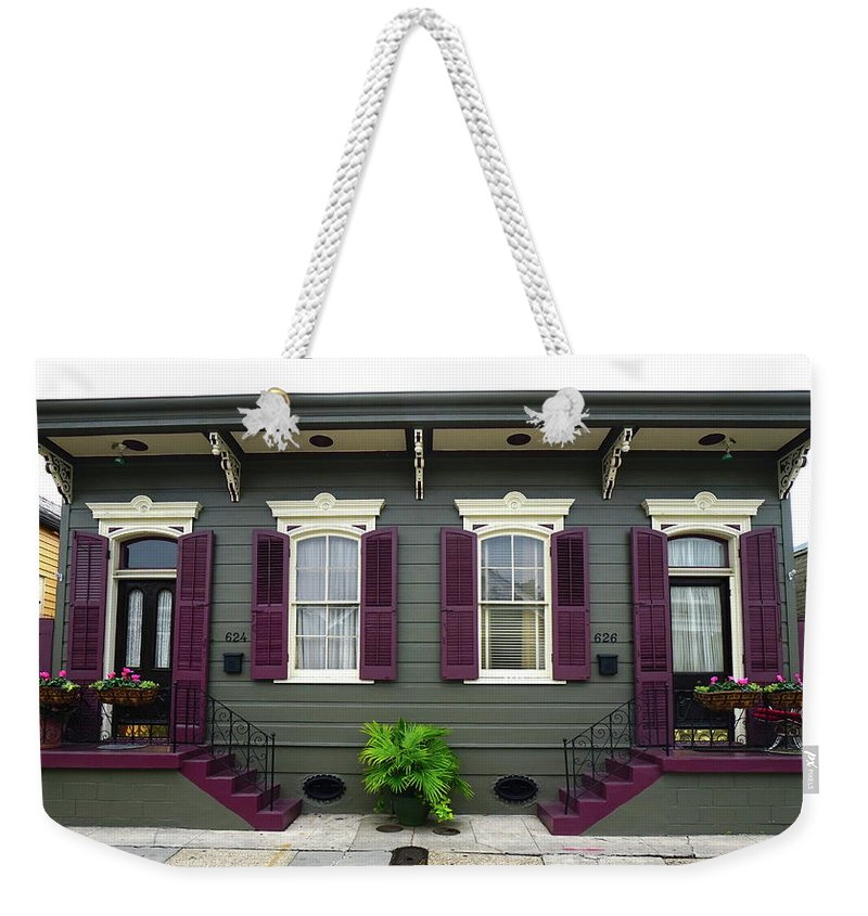French Quarter Home Weekender Tote Bag featuring the photograph French Quarter Home by Chuck Johnson