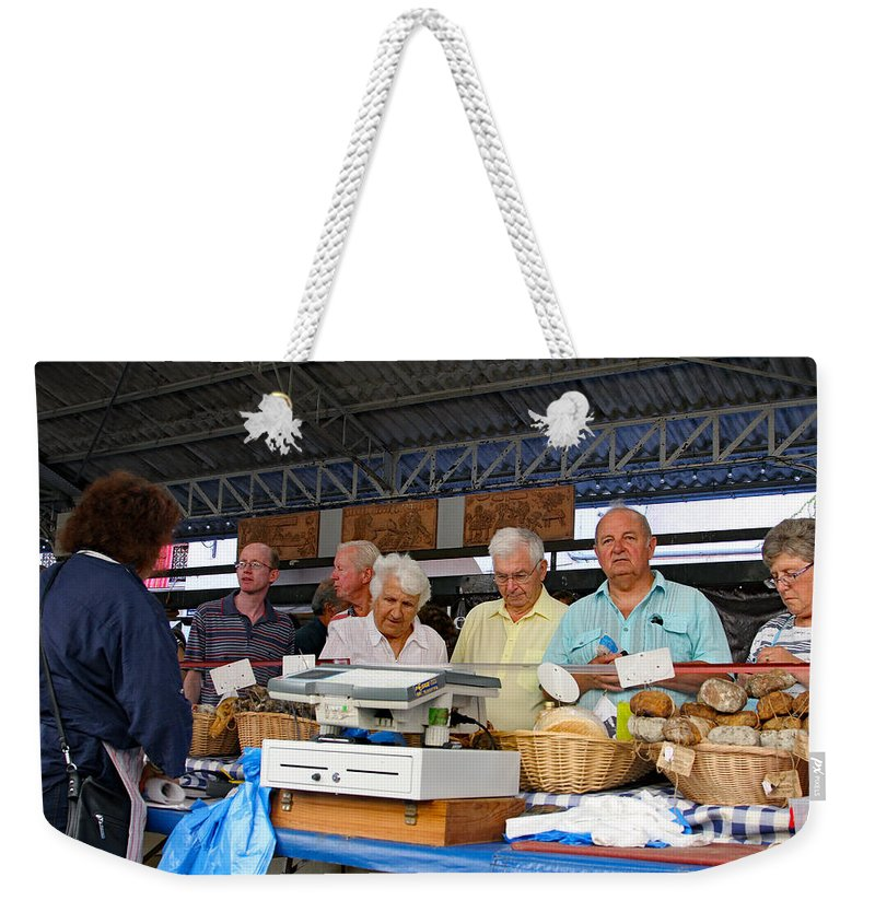 France Weekender Tote Bag featuring the photograph Fresh Breads by Allan Levin