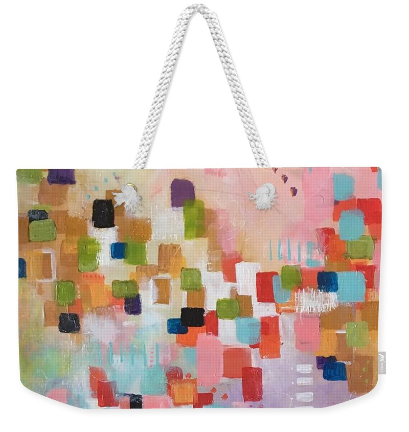 Abstract Weekender Tote Bag featuring the painting Fresh Morning by Suzzanna Frank