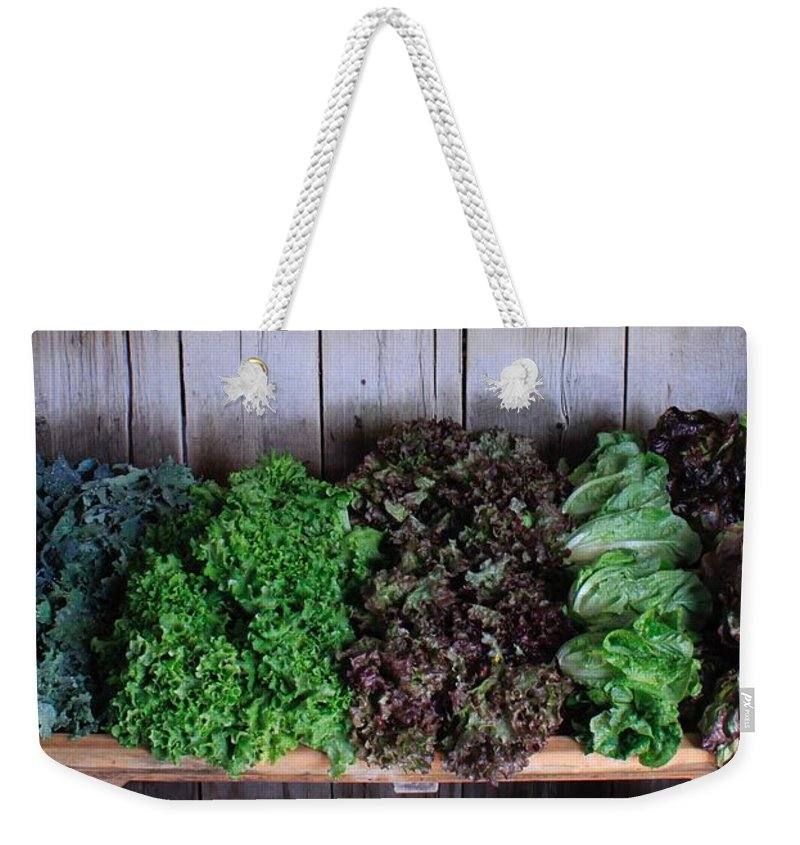 Organic Crops Weekender Tote Bag featuring the photograph Fresh Produce Stand by Rose Webber Hawke
