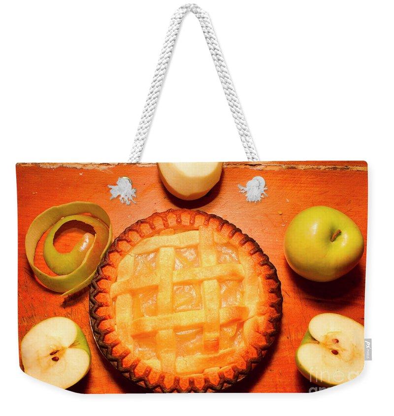 Apple Peel Weekender Tote Bags