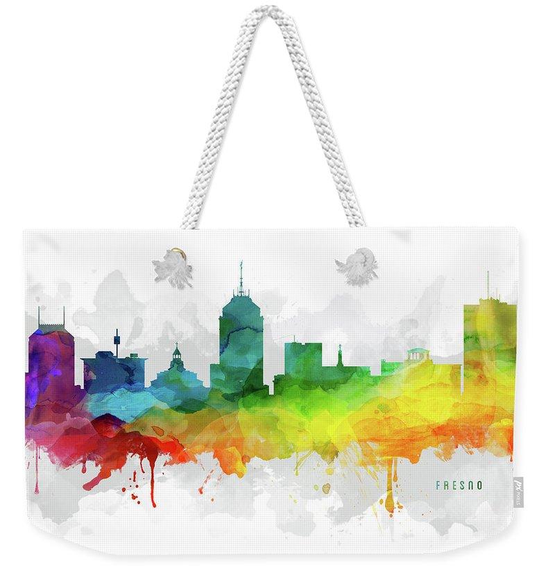 Fresno Silhouette Weekender Tote Bags