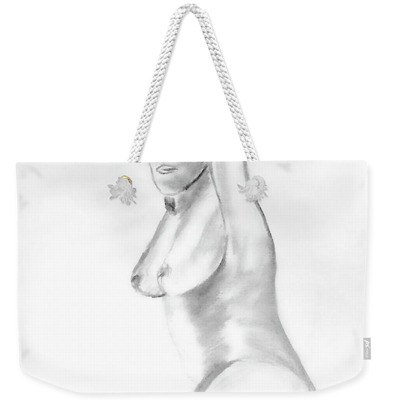 Female Weekender Tote Bag featuring the painting Frida by Donna Blackhall
