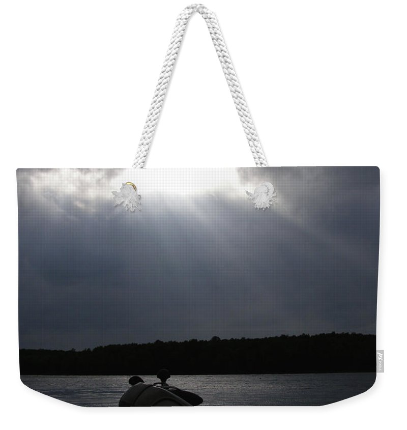 Fish Weekender Tote Bag featuring the photograph Friday Night Fish Fry Reservations by Angie Rea