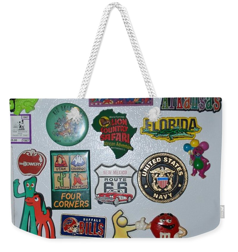 Refrigerator Weekender Tote Bag featuring the photograph Fridge Magnets by Rob Hans