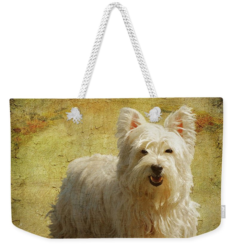 Dogs Weekender Tote Bag featuring the photograph Friendly Smile by Lois Bryan