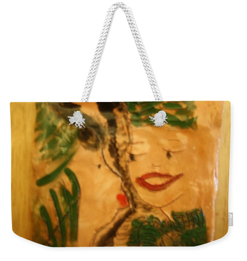 Jesus Weekender Tote Bag featuring the ceramic art Friends - Tile by Gloria Ssali