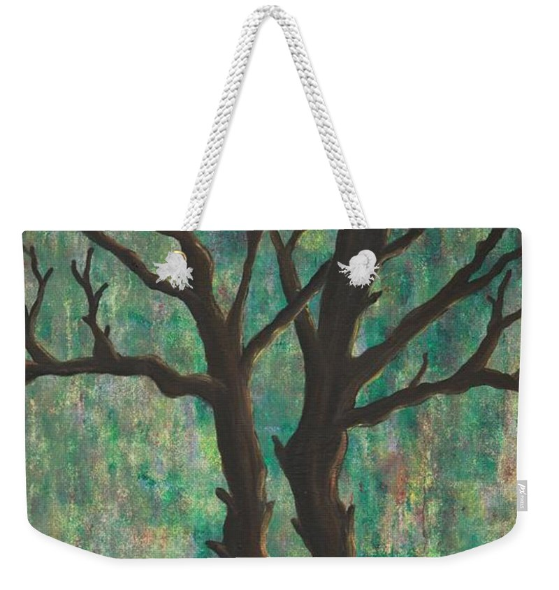 Trees Weekender Tote Bag featuring the painting Friends by Jacqueline Athmann
