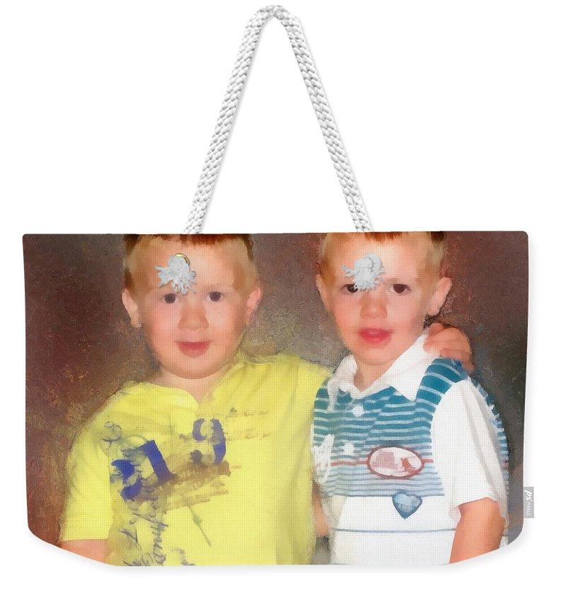 Friends Weekender Tote Bag featuring the painting Friends by Jeffrey Kolker