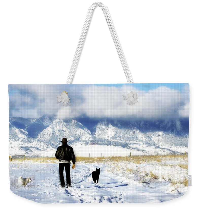 Americana Weekender Tote Bag featuring the photograph Friends on a Walk by Marilyn Hunt