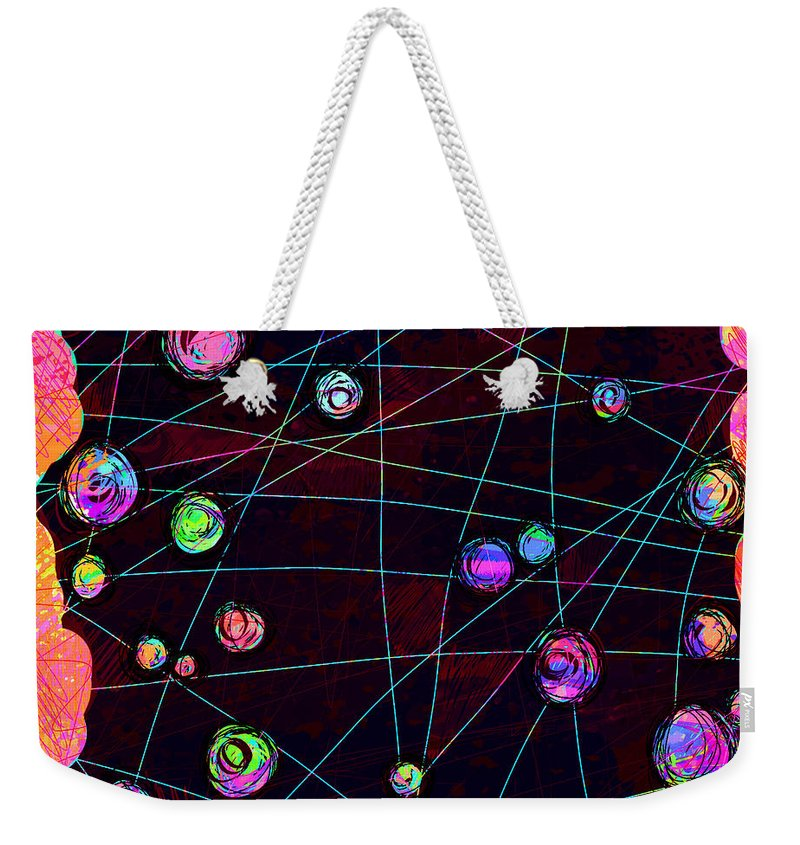 Abstract Weekender Tote Bag featuring the digital art Friends by William Russell Nowicki