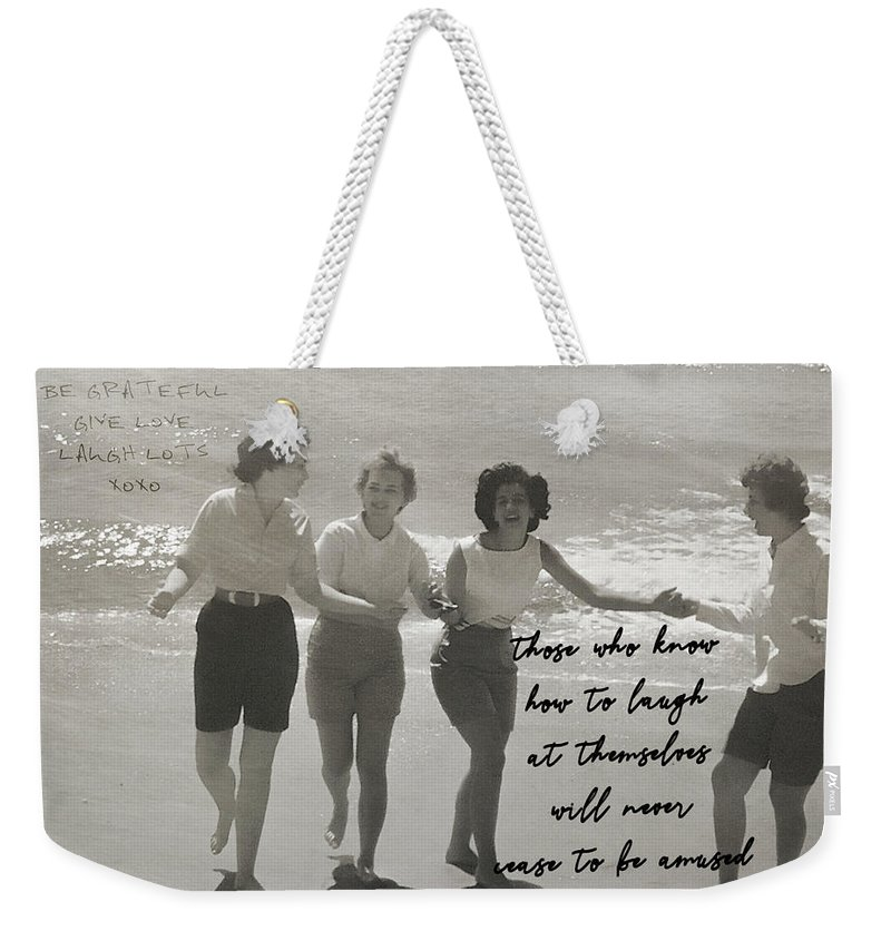 Amused Weekender Tote Bag featuring the photograph Friendship Dance Quote by JAMART Photography