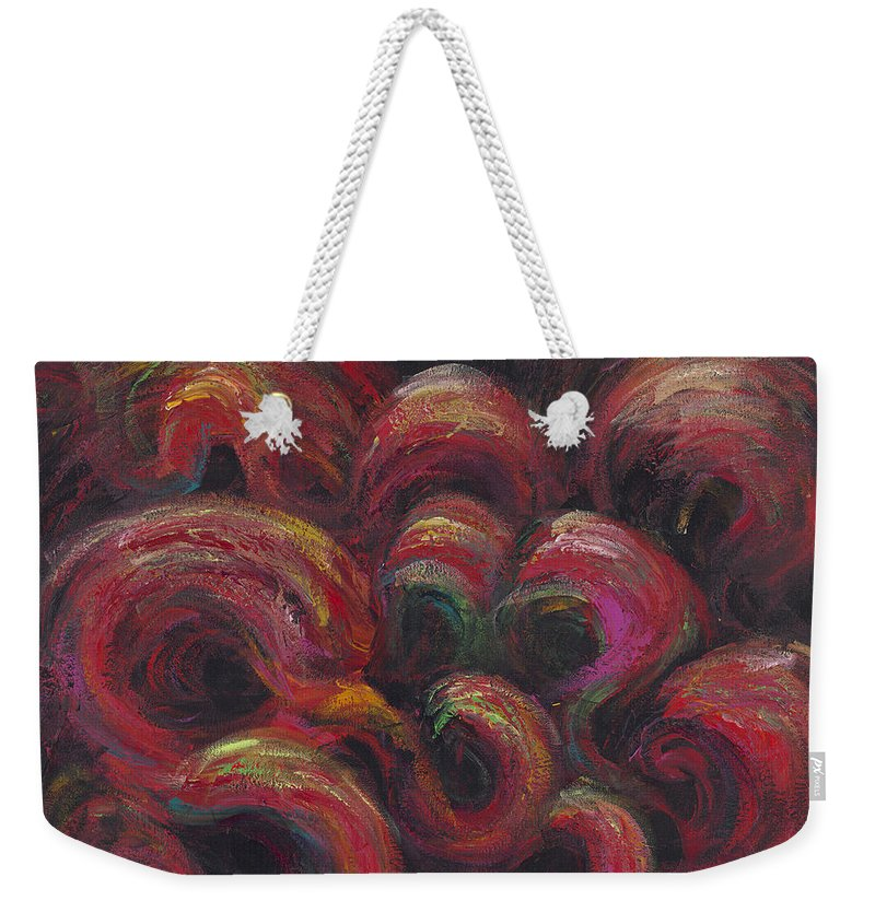 Frivolity Weekender Tote Bag featuring the painting Frivolity by Nadine Rippelmeyer