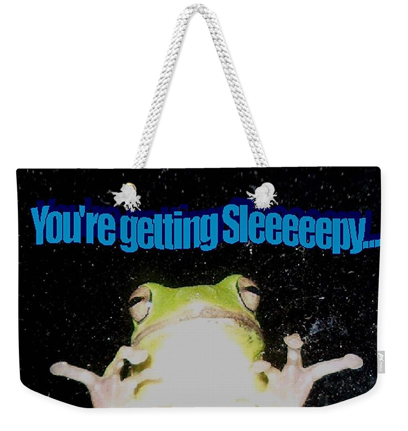 Photography Weekender Tote Bag featuring the photograph Frog You're Getting Sleeeeeeepy by Bertie Edwards