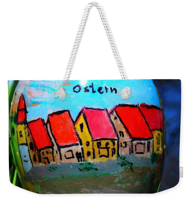 Easter Weekender Tote Bag featuring the photograph Frohe Ostern by Juergen Weiss