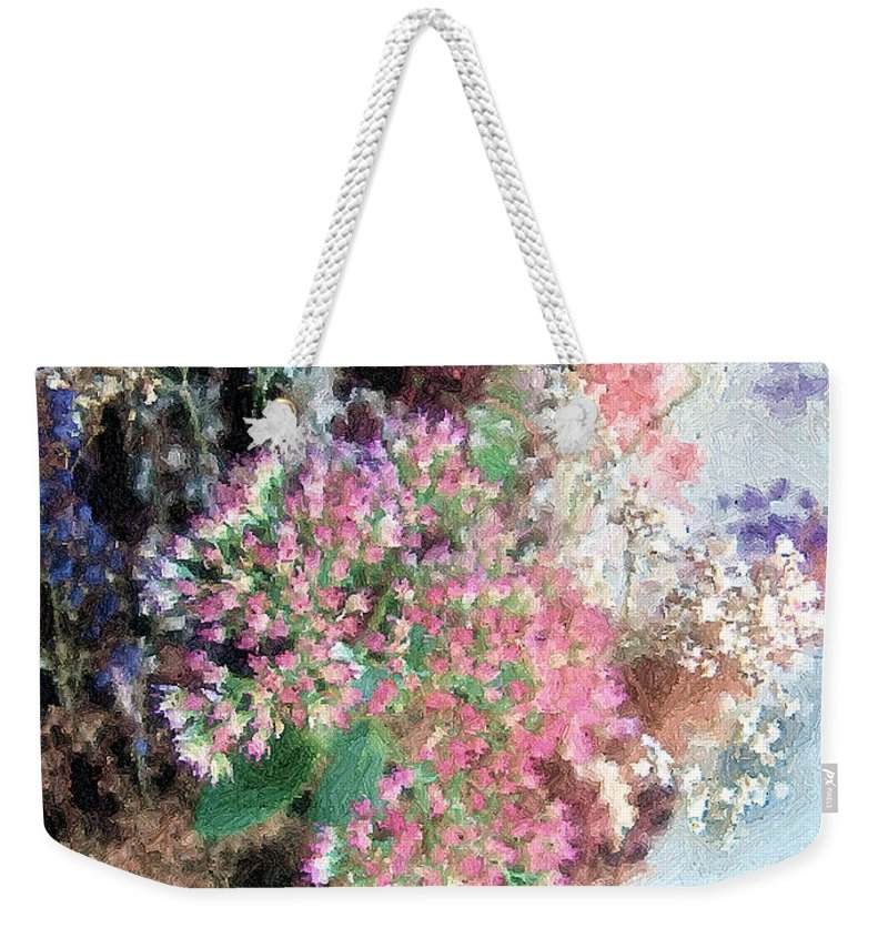 Basket Weekender Tote Bag featuring the digital art From Her Secret Admirer by RC deWinter