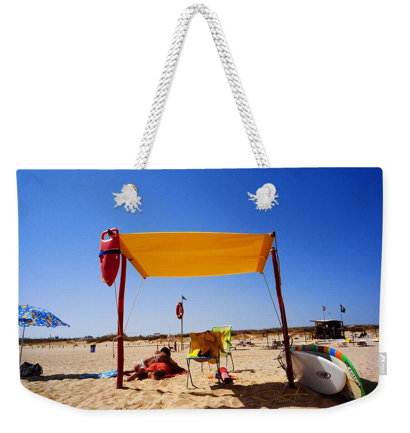 Beack Weekender Tote Bag featuring the photograph From Here To Eternity by Charles Stuart