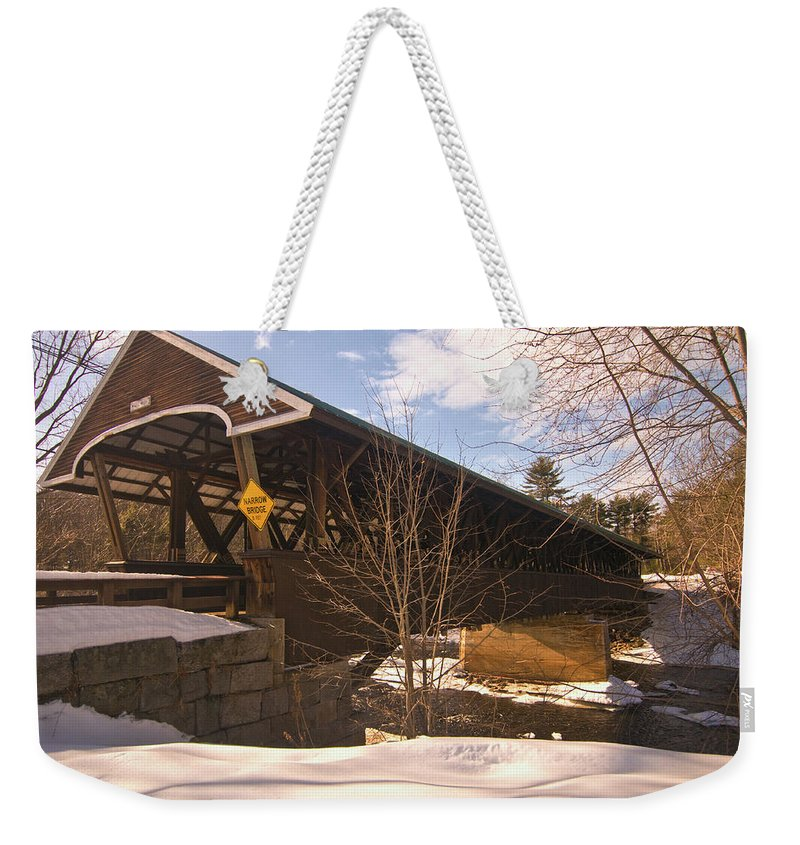 new England Covered Bridges Weekender Tote Bag featuring the photograph From Here To There by Paul Mangold