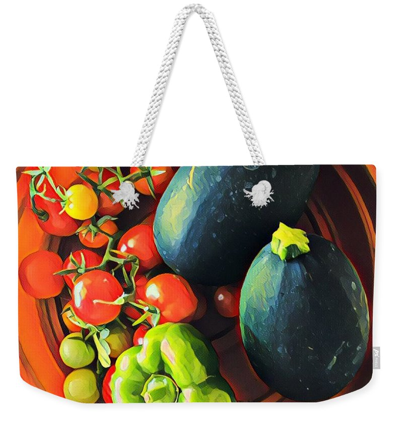 Zucchini Weekender Tote Bag featuring the photograph From My Garden by Cherylene Henderson