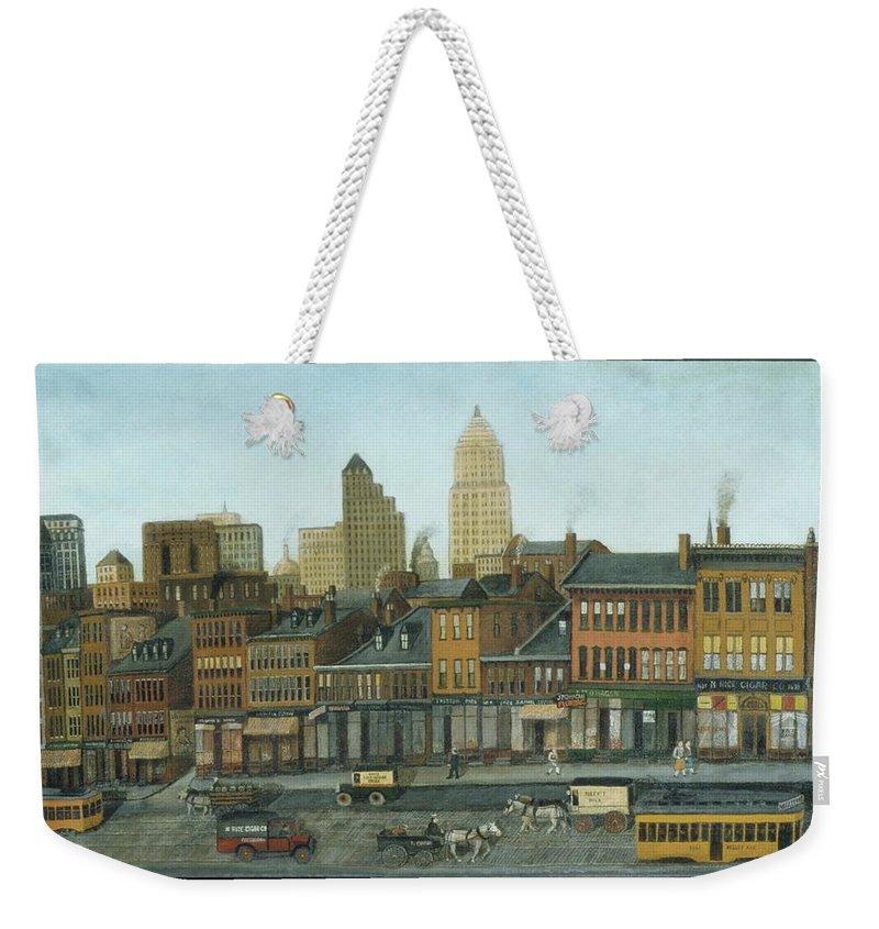 From My Studio Window Weekender Tote Bag featuring the painting From My Studio Window by MotionAge Designs