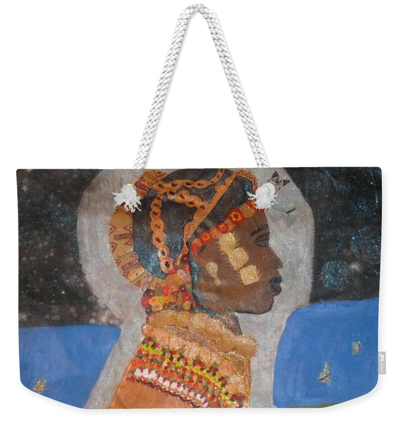 Cultural Weekender Tote Bag featuring the painting From Princess To Queen by Yolanda Banks FWP