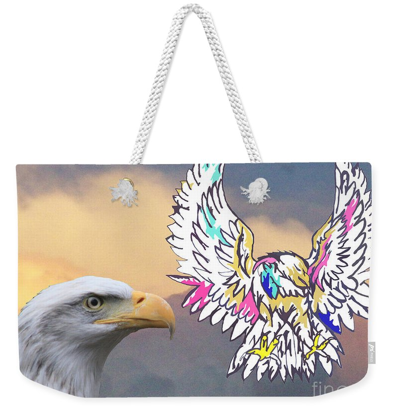 Nature Weekender Tote Bag featuring the mixed media From Real To Abstraction by Mary Mikawoz