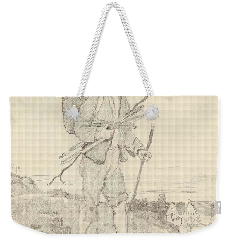 Art Weekender Tote Bag featuring the painting From Rudolf Hirth Frenes 1846 Grafentonna  Miltenberg 1916 Young Reisigsammlerinnen by Rudolf Hirth Frenes