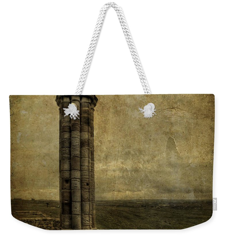 Column Weekender Tote Bag featuring the photograph From The Ruins Of A Fallen Empire by Evelina Kremsdorf