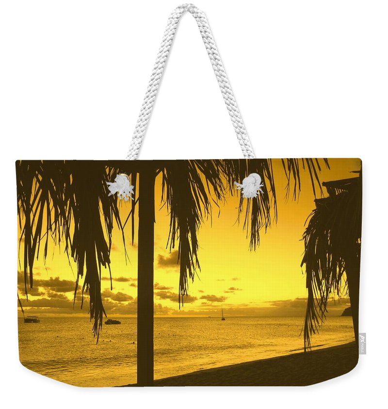 Sunset Weekender Tote Bag featuring the photograph From The Shiggady Shack by Ian MacDonald
