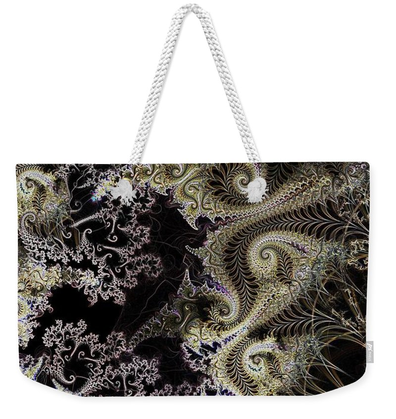 Fronds Weekender Tote Bag featuring the digital art Fronds by Ron Bissett