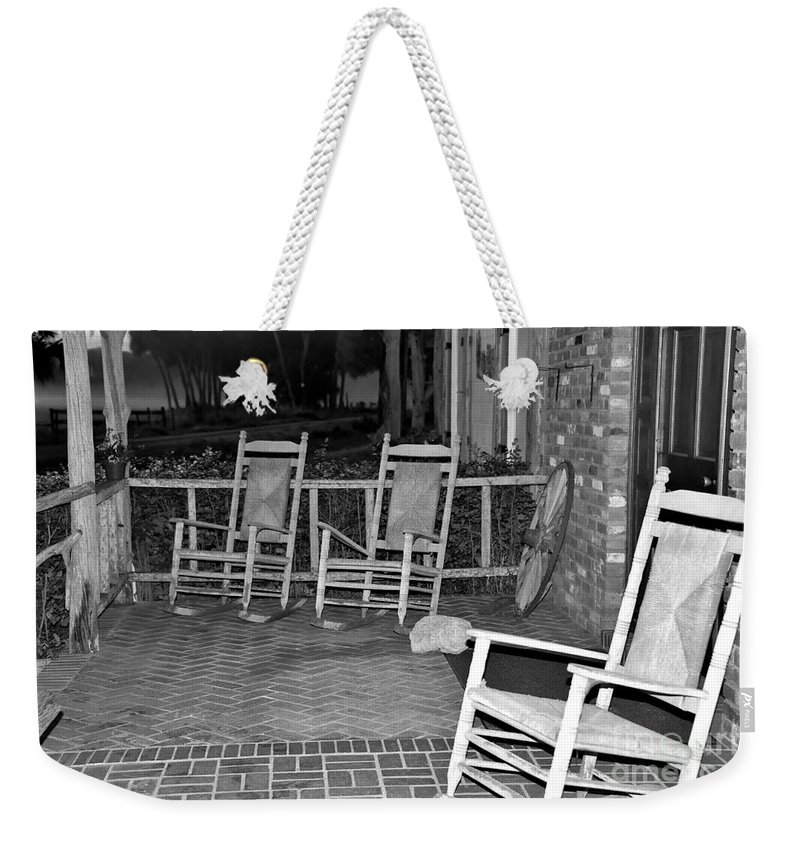 Front Porch Weekender Tote Bag featuring the photograph Front Porch by Lisa Renee Ludlum