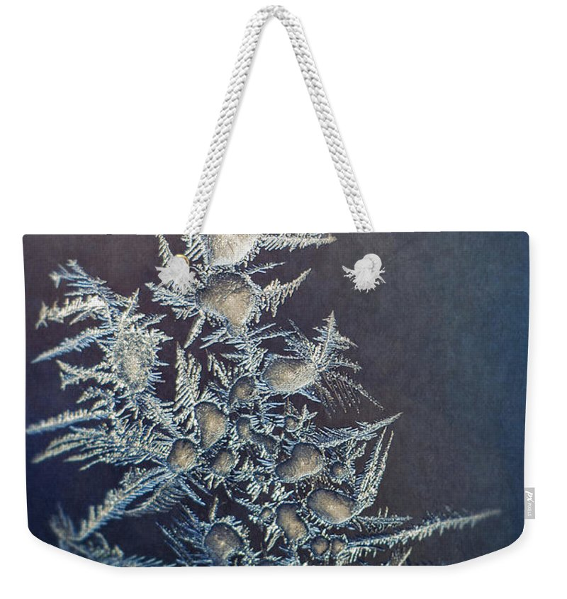 Frozen Weekender Tote Bag featuring the photograph Frost by Scott Norris
