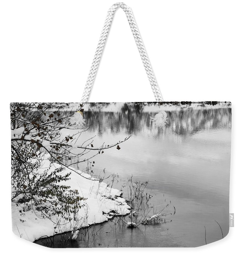 Colorado Weekender Tote Bag featuring the photograph Frosty Flatirons by Marilyn Hunt