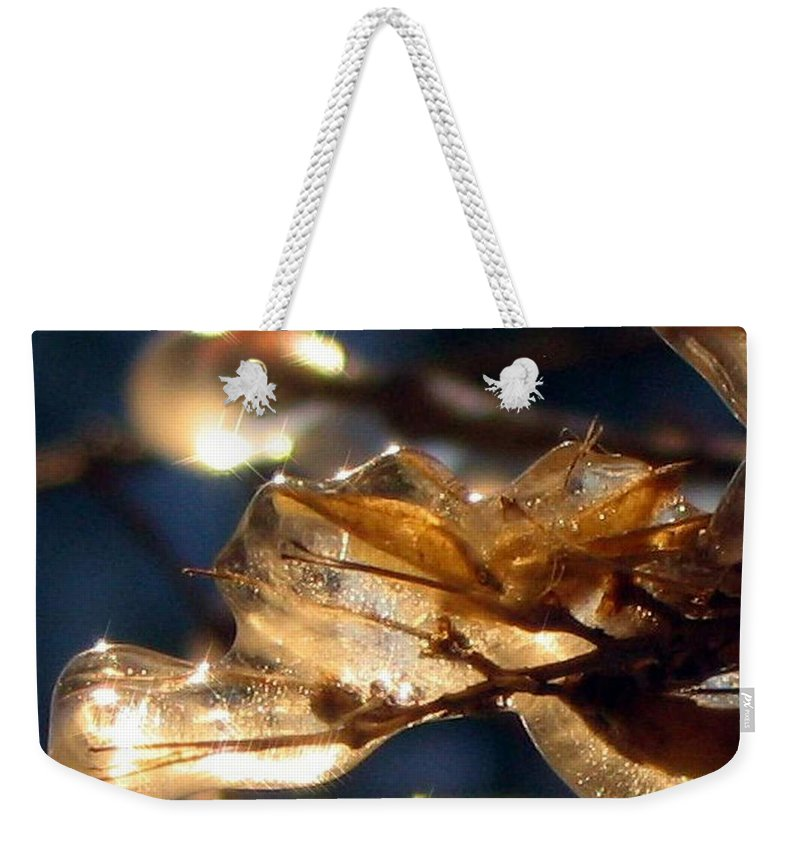 Photography Weekender Tote Bag featuring the photograph Frozen Fairy by Dawn Marshall