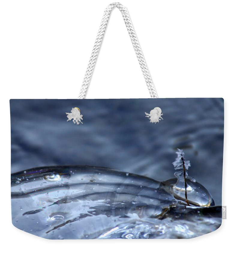 Ice Weekender Tote Bag featuring the photograph Frozen In Time by Donna Blackhall