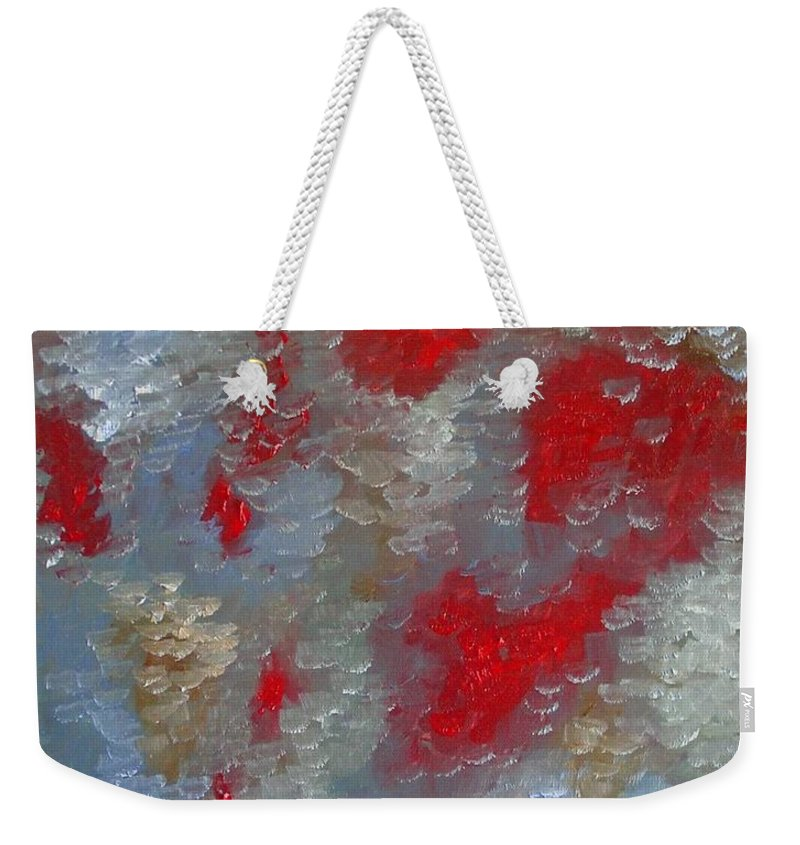 Abstract Weekender Tote Bag featuring the painting Frozen Street by Laurie Morgan