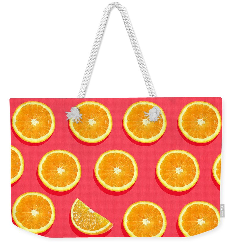 Orange Weekender Tote Bags