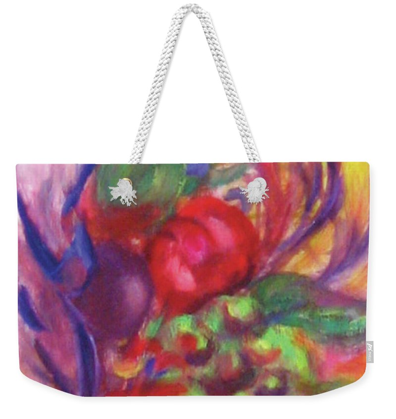Fruits Weekender Tote Bag featuring the painting Fruit And Flowers by Diane Quee