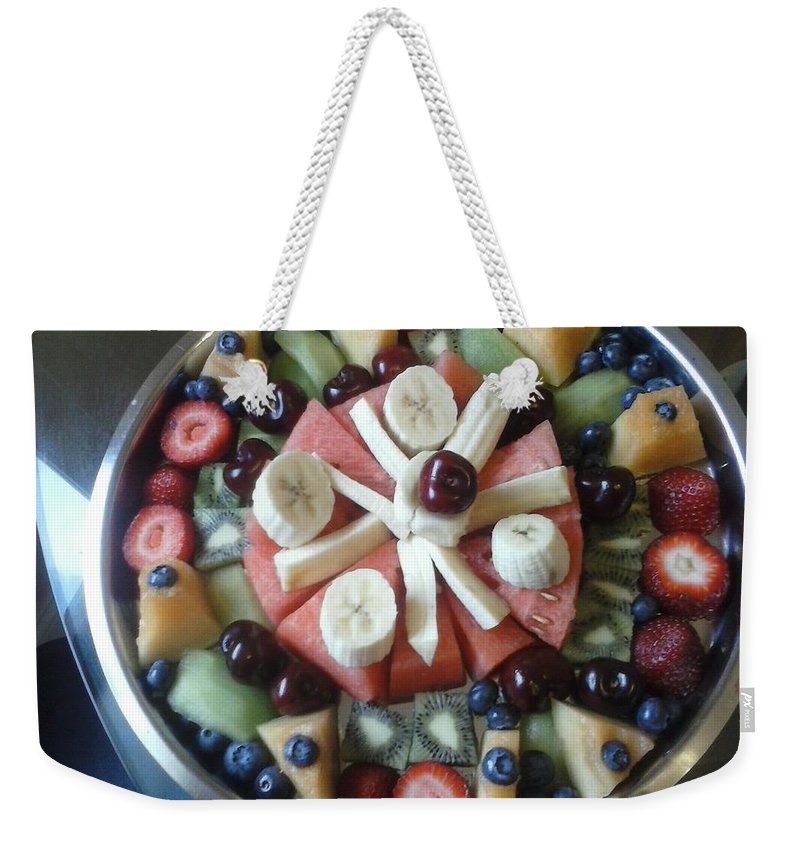 Fruit Weekender Tote Bag featuring the photograph Fruit Spiral by C L