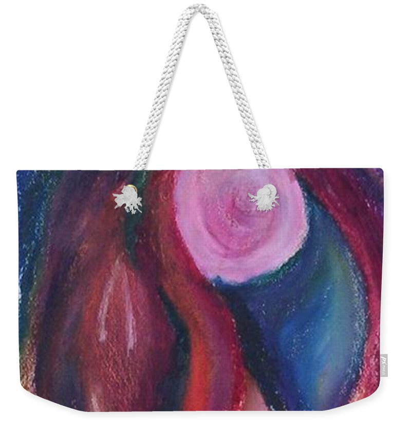 Abstract Weekender Tote Bag featuring the painting Fruit by Suzanne Udell Levinger