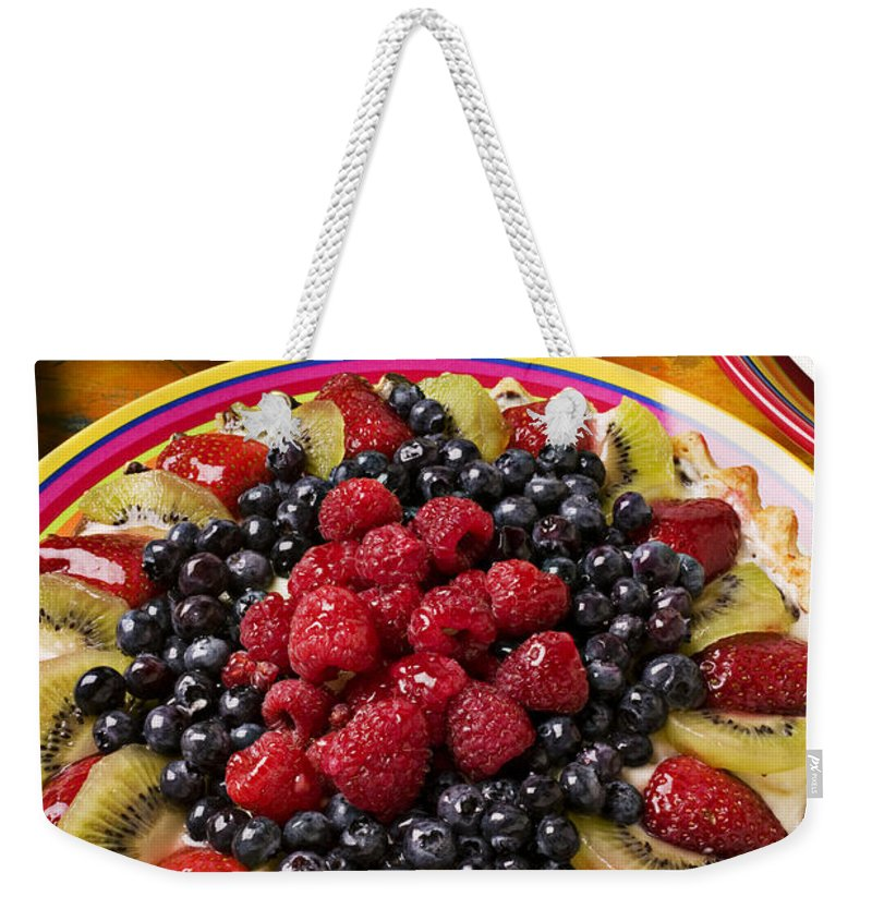 Fruit Weekender Tote Bag featuring the photograph Fruit Tart Pie by Garry Gay