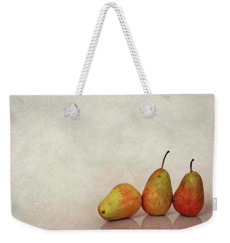 Pear Weekender Tote Bag featuring the photograph Fruitful Days by Evelina Kremsdorf