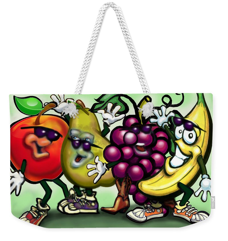 Fruit Weekender Tote Bag featuring the painting Fruits by Kevin Middleton