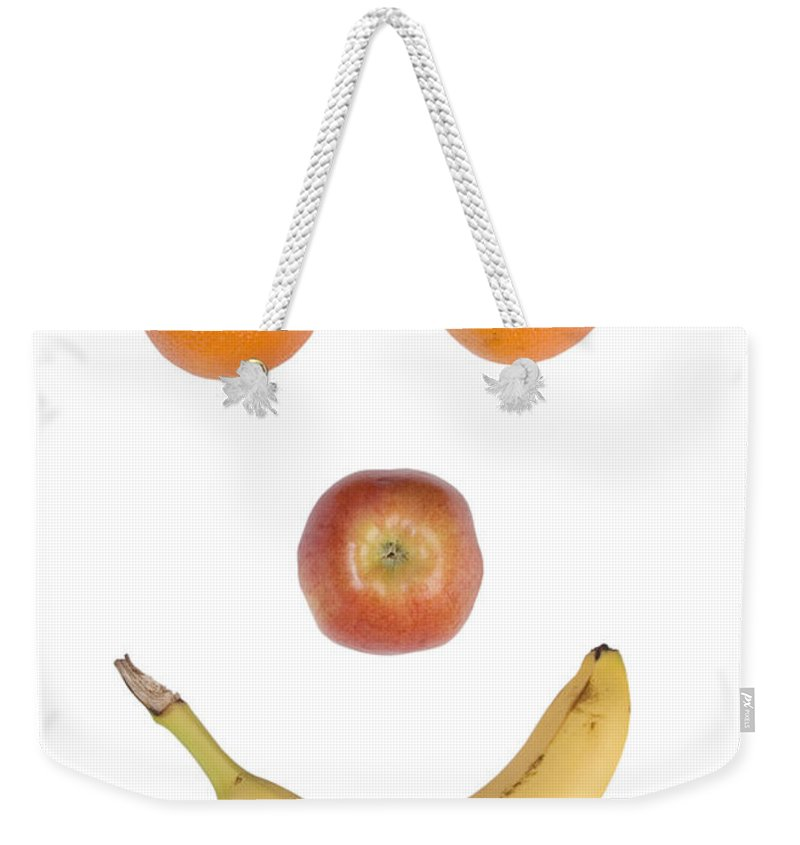 Fruit Weekender Tote Bag featuring the photograph Fruity Happy Face by James BO Insogna