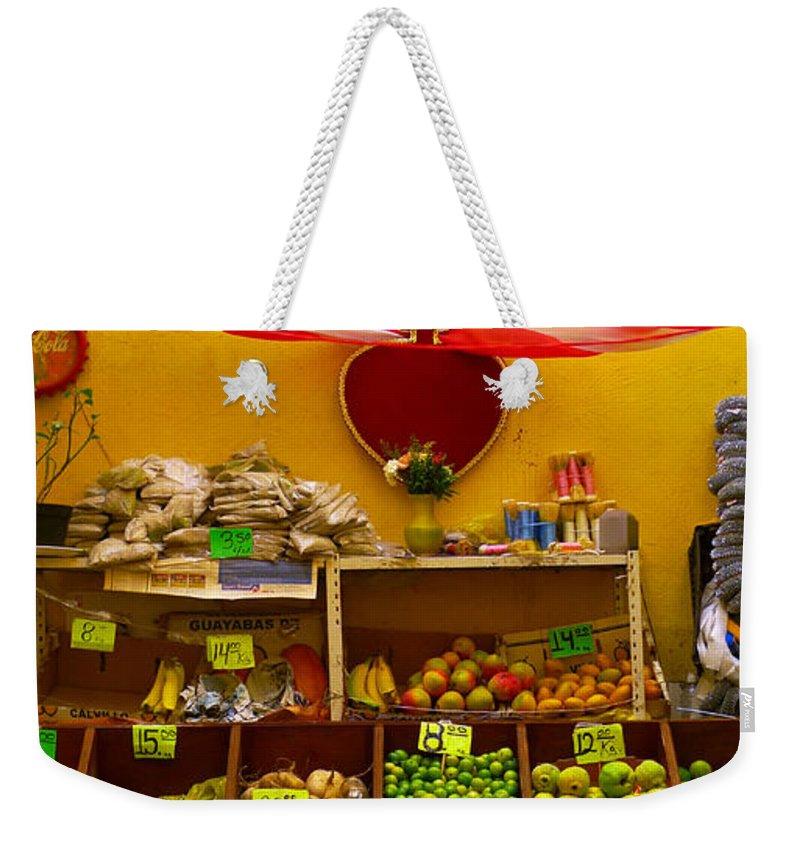 Skip Hunt Weekender Tote Bag featuring the photograph Frutas Y Verduras by Skip Hunt
