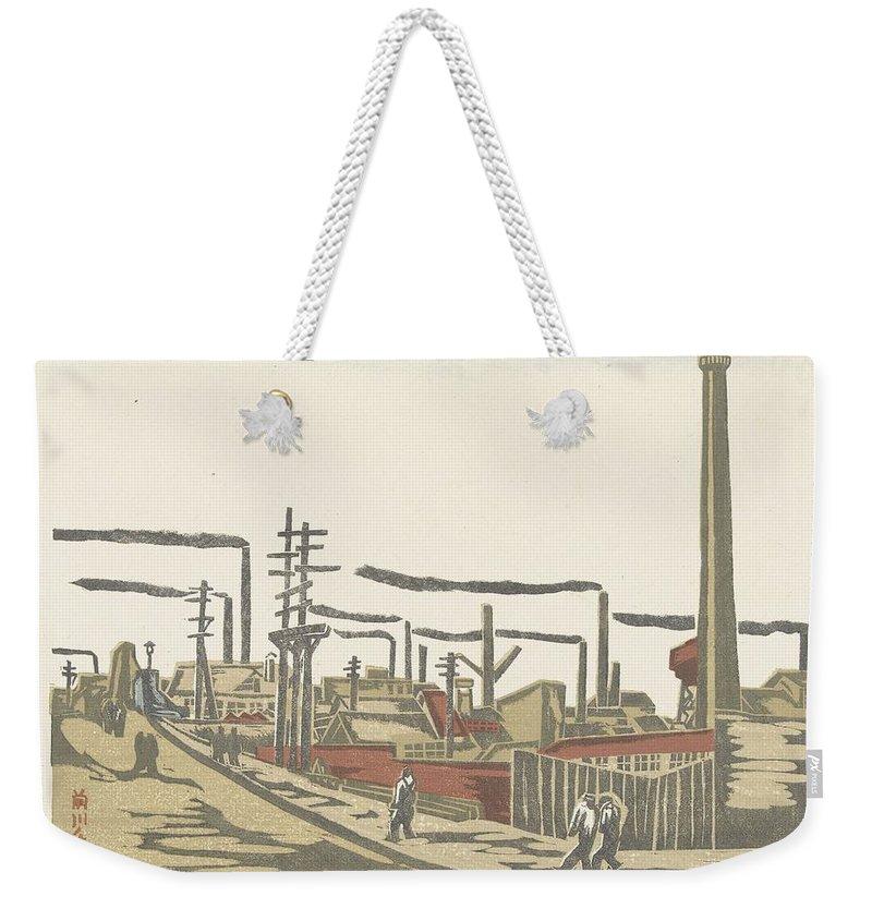 Art Weekender Tote Bag featuring the painting Fukagawa Bedrijventerrein Maekawa Senpan 1945 by Fukagawa bedrijventerrein Maekawa Senpan