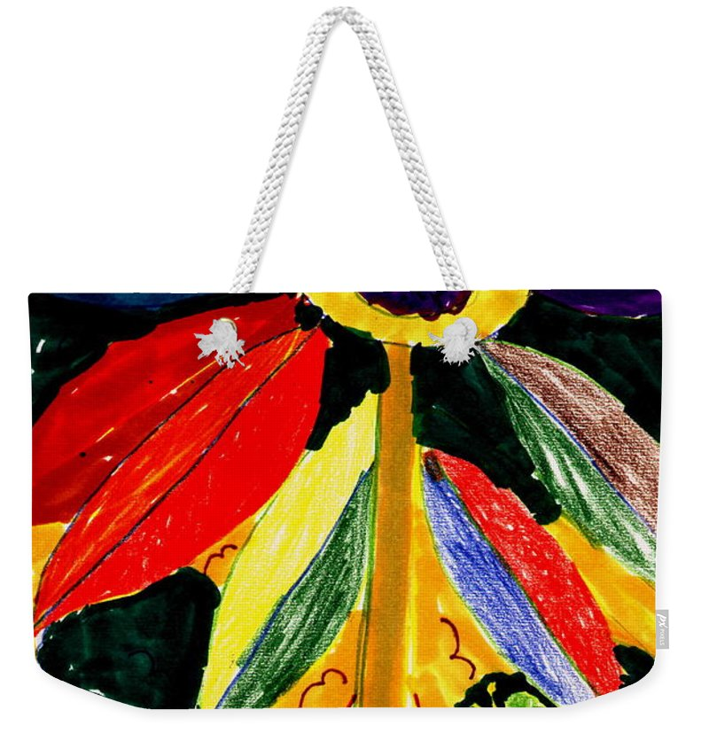 Children's Art Weekender Tote Bag featuring the painting Full Bloom - My Home 2 by Angela L Walker