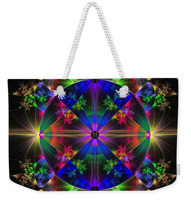 Fractal Weekender Tote Bag featuring the digital art Full Circle by Sandy Keeton