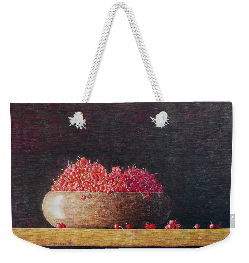 Still Life Weekender Tote Bag featuring the painting Full Life by A Robert Malcom